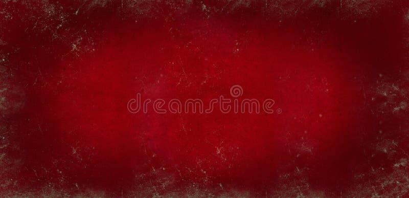 Rode donkere achtergrond van schoolbord gekleurde textuur of rode document textuur De rode zwarte vignetted lege oude achtergrond stock foto's