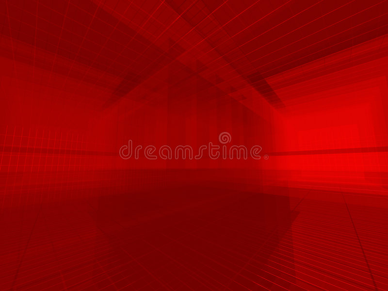 Rode draadruimte vector illustratie