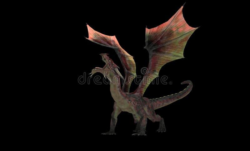 Rode draak vector illustratie
