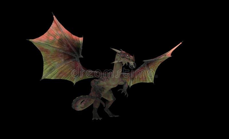 Rode draak stock illustratie