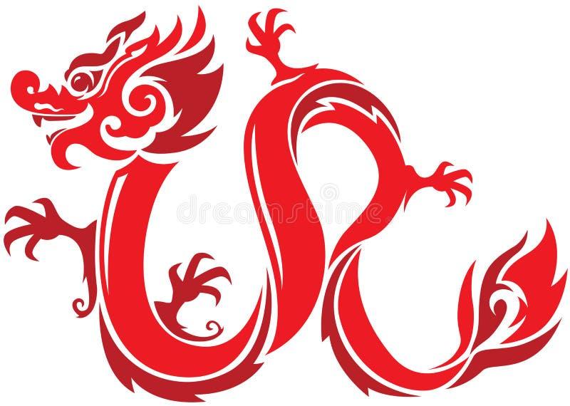 Rode Draak royalty-vrije illustratie