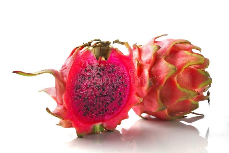 Rode draakfruit/pitaya stock afbeeldingen