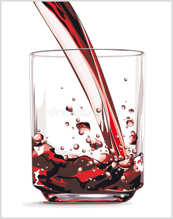 Rode drank stock illustratie
