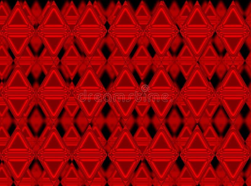 Rode Driehoeken royalty-vrije illustratie