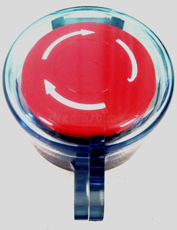 Rode Drukknop stock fotografie