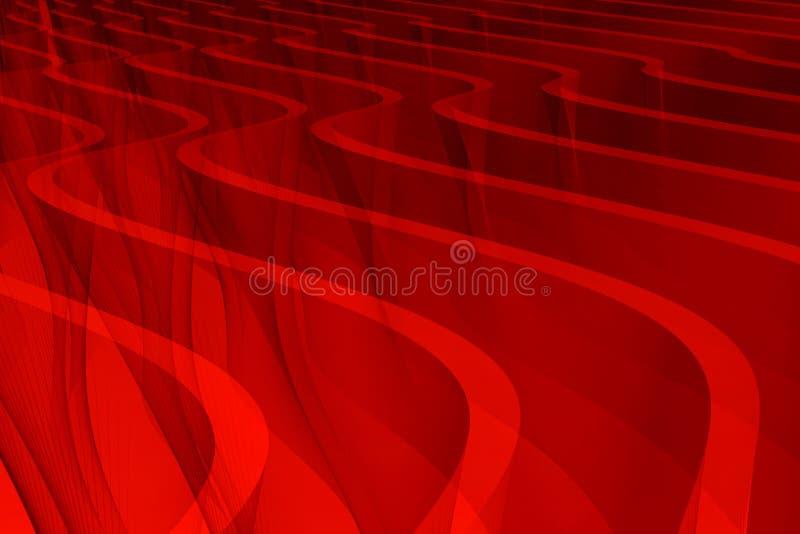 Rode duinen stock illustratie