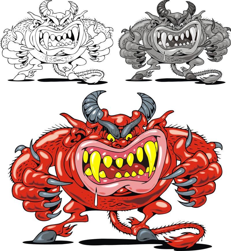 Rode duivel van de hel royalty-vrije illustratie