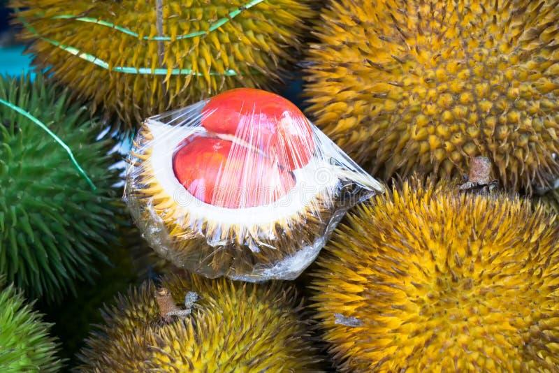 Rode Durian stock afbeelding