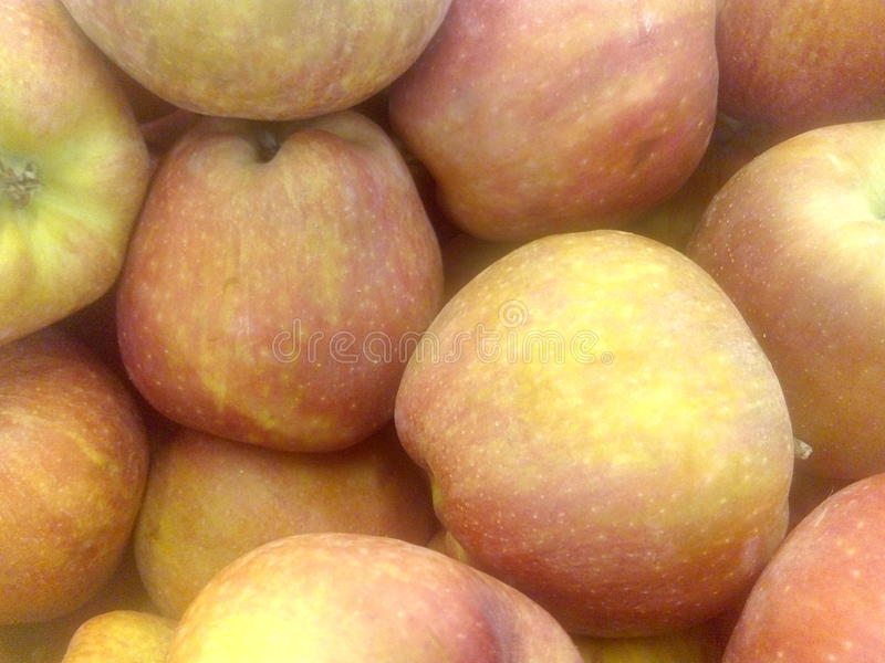 Rode echte appelen royalty-vrije stock fotografie