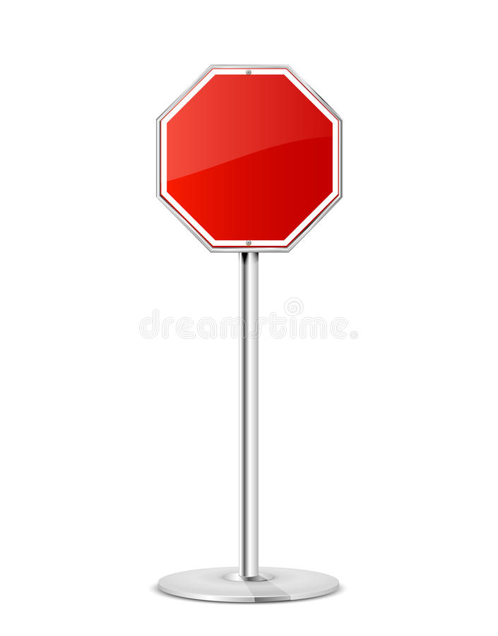 Rode eindeverkeersteken stock illustratie