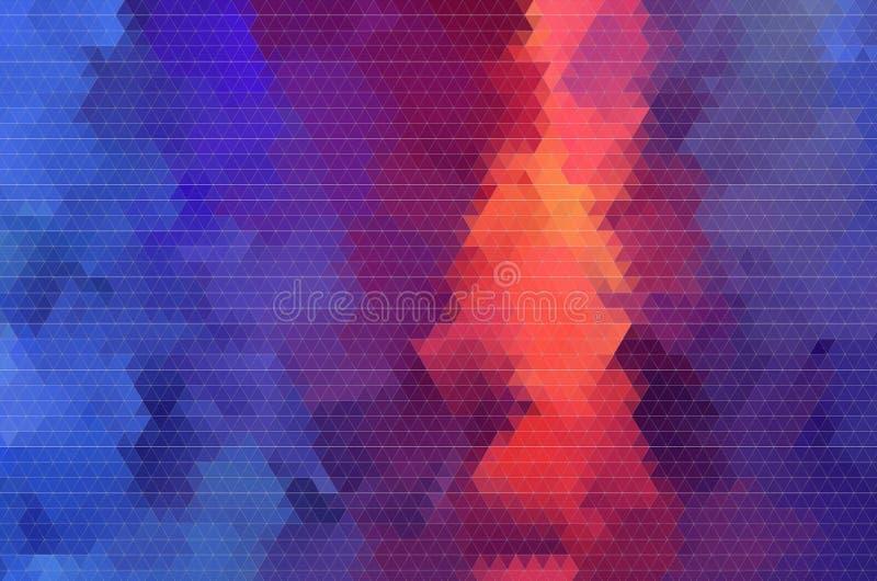 Rode en blauwe abstracte geometrische patroonachtergrond stock afbeelding