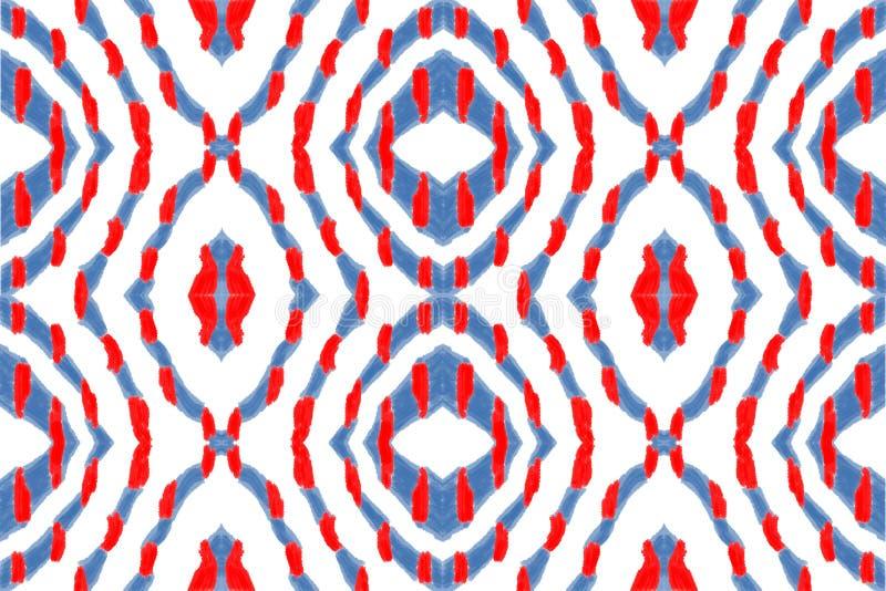 Rode en blauwe abstractie royalty-vrije stock foto