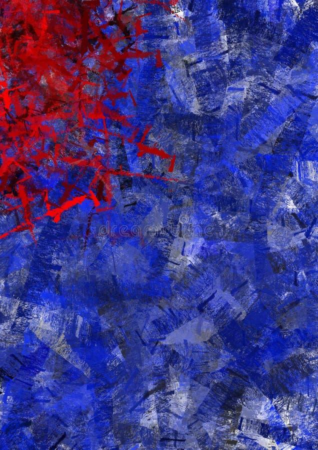 Rode en blauwe texturen royalty-vrije illustratie