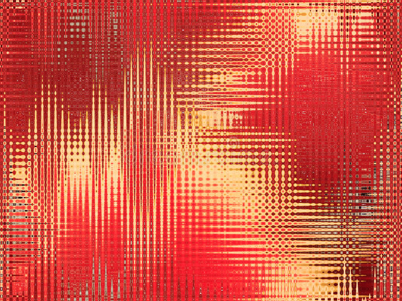 Rode en gele abstracte textuur stock illustratie