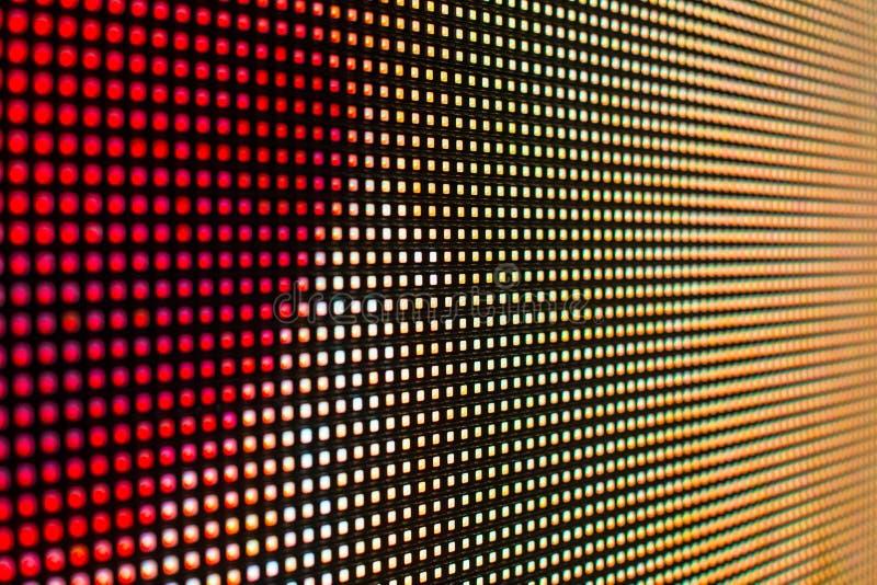 Rode en gele het gekleurde smd LEIDENE scherm stock afbeeldingen