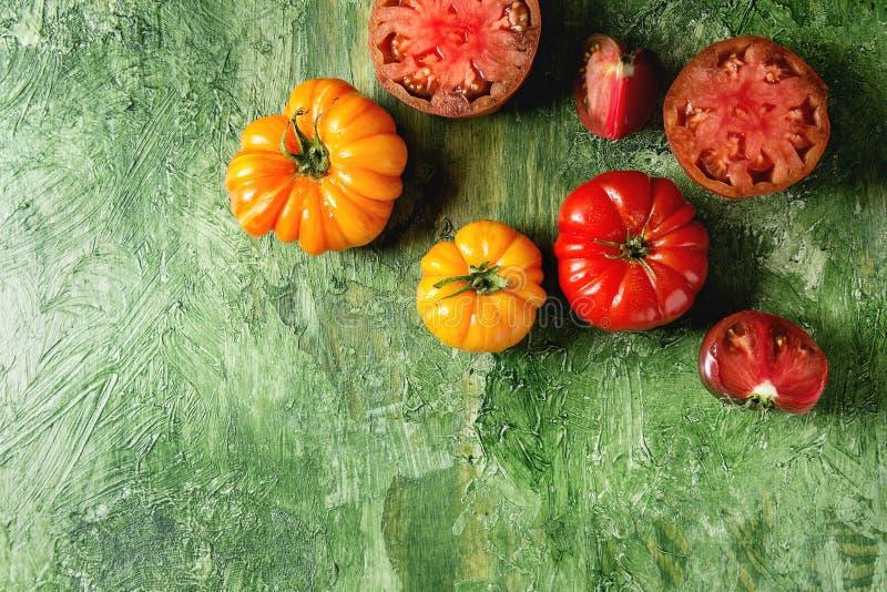 Rode en gele tomaten royalty-vrije stock afbeelding