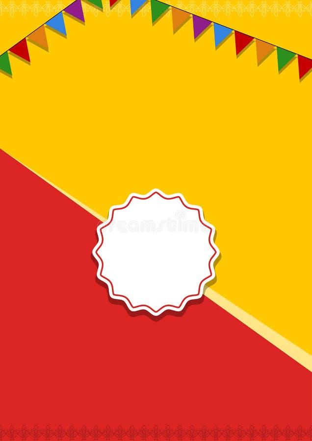 Rode en gele vieringsbanner vector illustratie