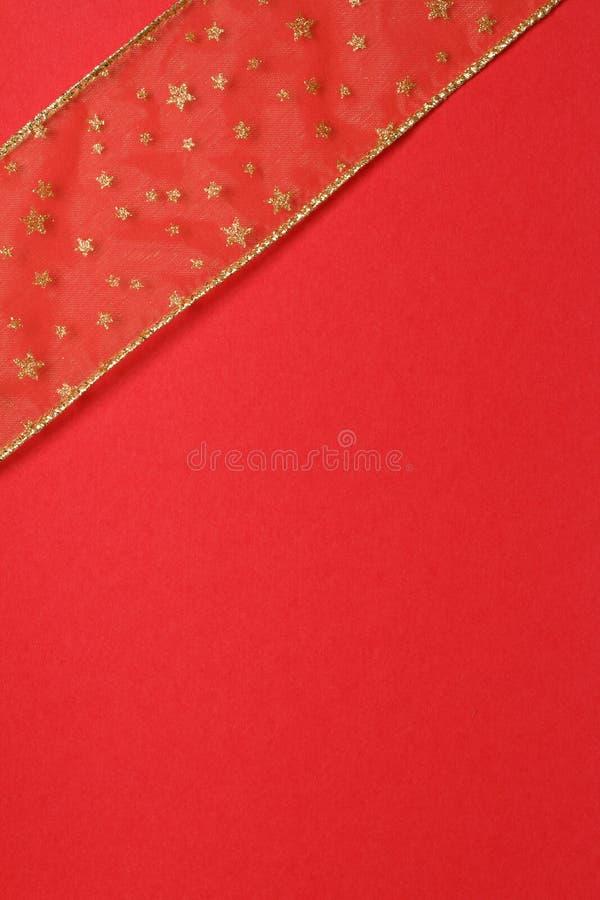 Rode En Gouden Gift Royalty-vrije Stock Afbeeldingen