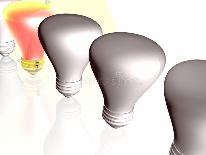 Rode en grijze lampen royalty-vrije illustratie