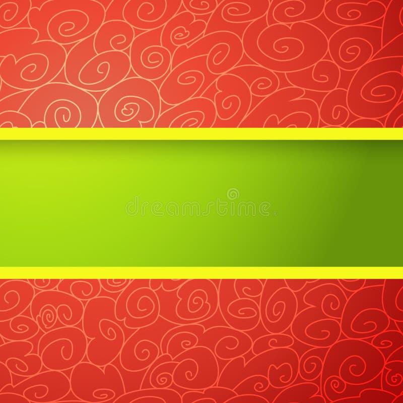 Rode En Groene Heldere Achtergrond Stock Foto
