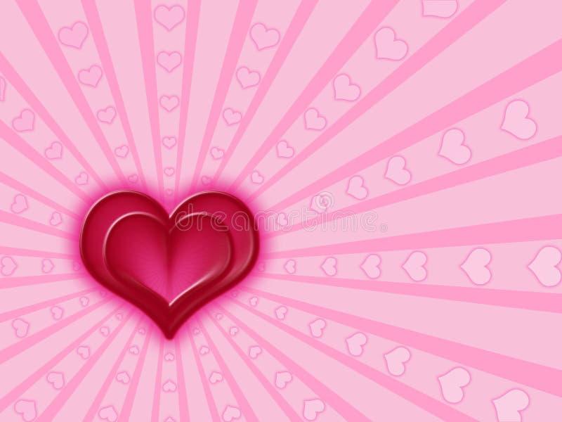 Rode en roze harten royalty-vrije illustratie