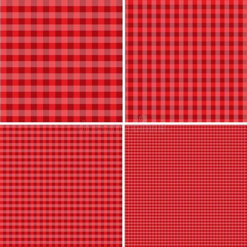 Rode en witte achtergrond voor picknicks Eps 10 stock illustratie