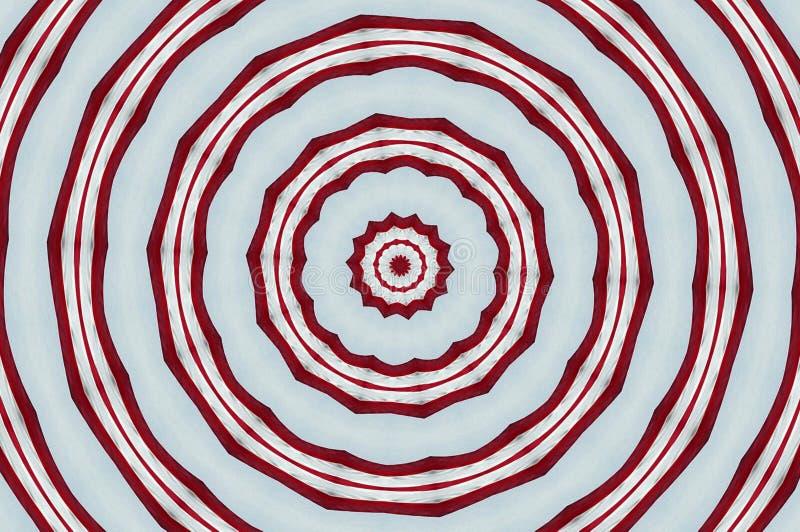 Rode en witte cirkels stock foto's