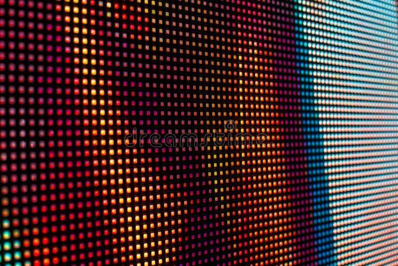 Rode en witte het gekleurde smd LEIDENE scherm stock afbeeldingen