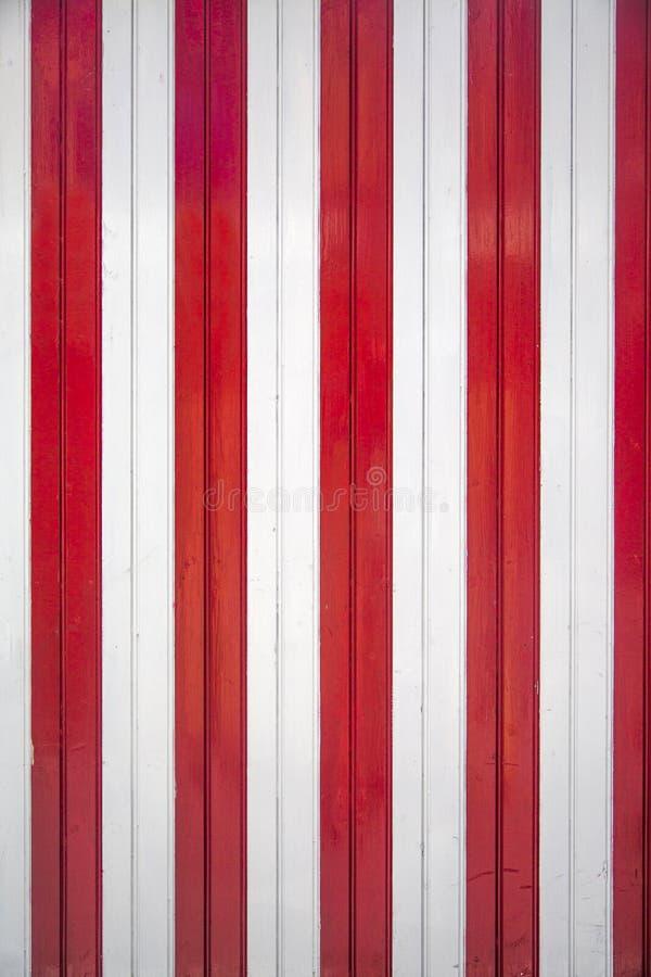 Rode en witte houten textuur stock foto's