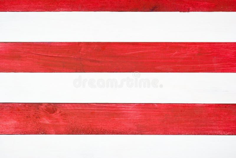 Rode en witte planken stock foto's