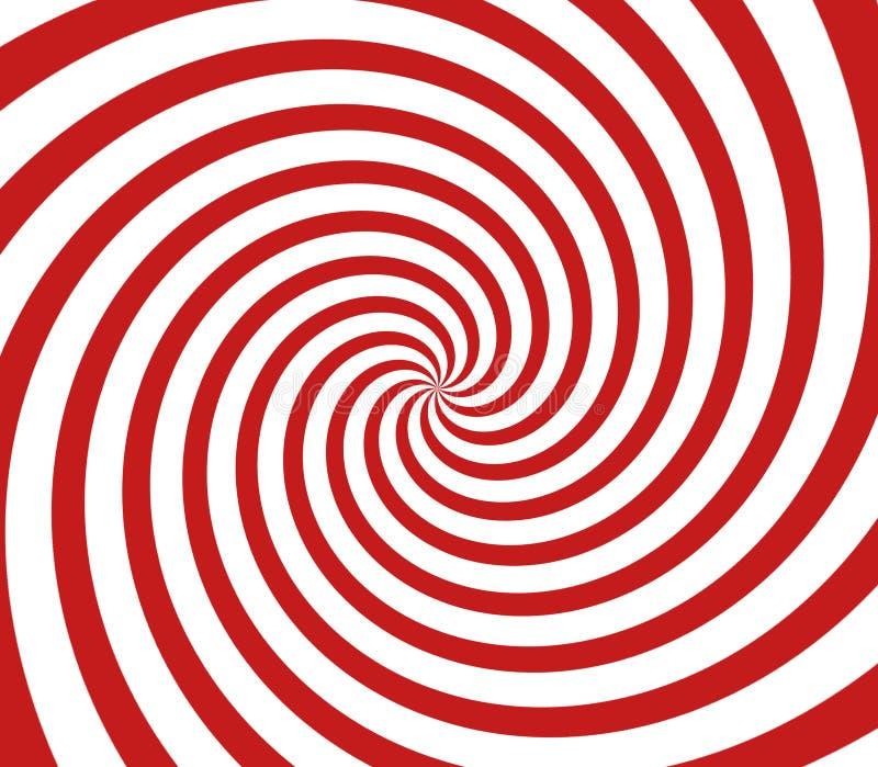 Rode en witte spiraal vector illustratie