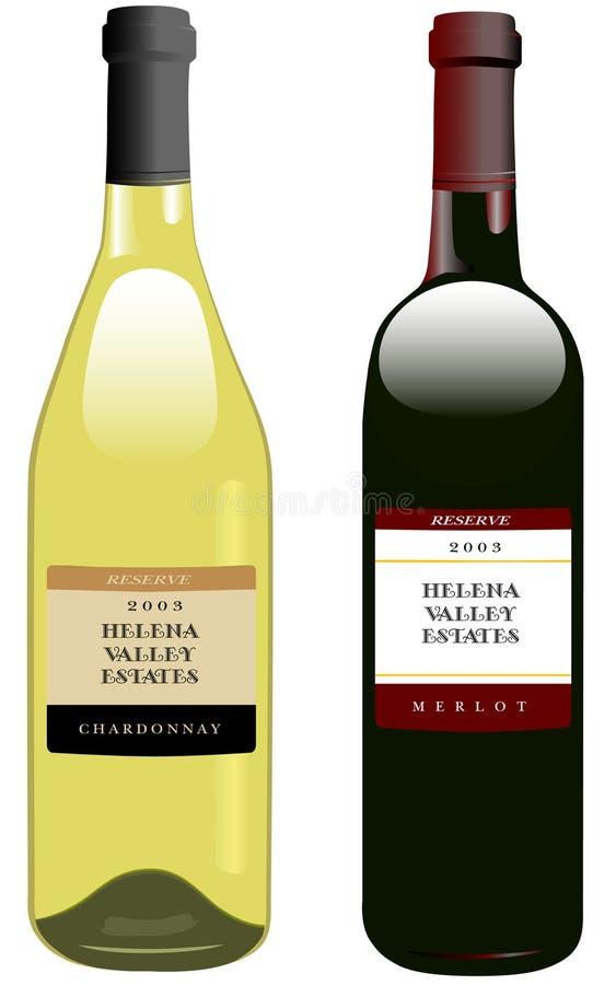 Rode en Witte Wijnen royalty-vrije illustratie