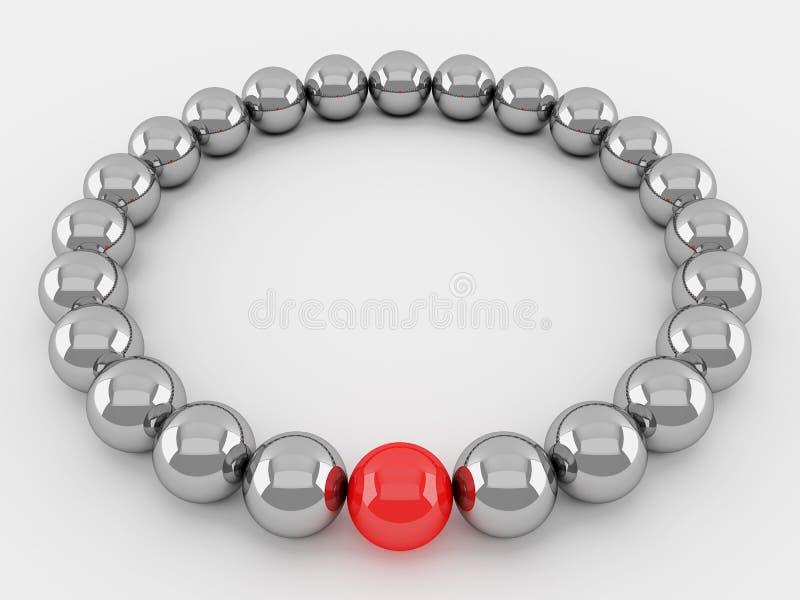 Rode en zilveren ballen vector illustratie