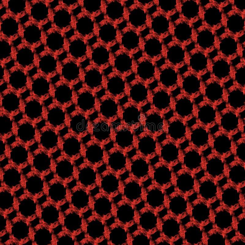 rode en zwarte abstracte geometrische patroonillustratie royalty-vrije stock foto's