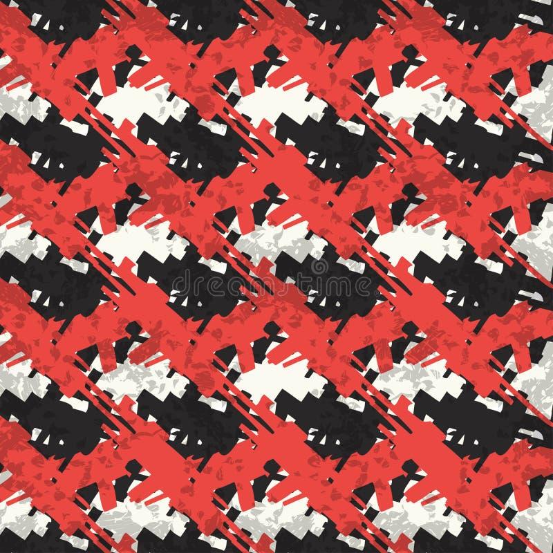 Rode en zwarte abstracte voorwerpen op een witte achtergrond royalty-vrije illustratie