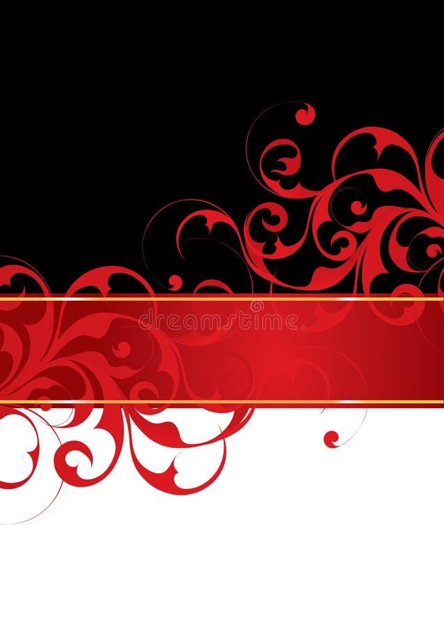 Rode en zwarte achtergrond stock illustratie