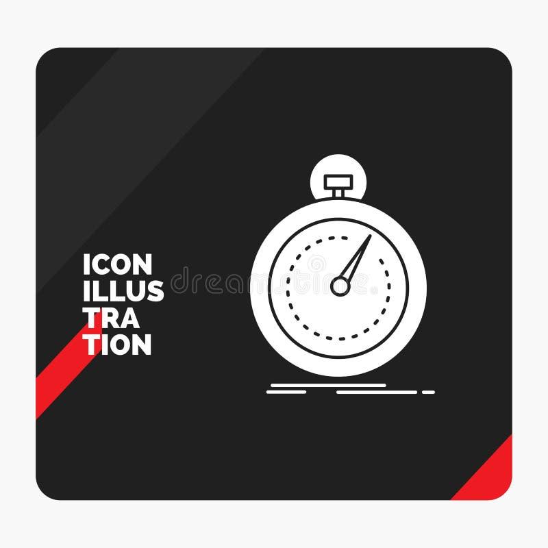 Rode en Zwarte Creatieve presentatieachtergrond voor Gedaane, snelle, optimalisering, snelheid, het Pictogram van sportglyph vector illustratie
