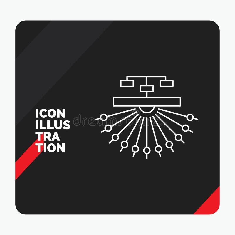 Rode en Zwarte Creatieve presentatieachtergrond voor optimalisering, plaats, plaats, structuur, het Pictogram van de Weblijn vector illustratie