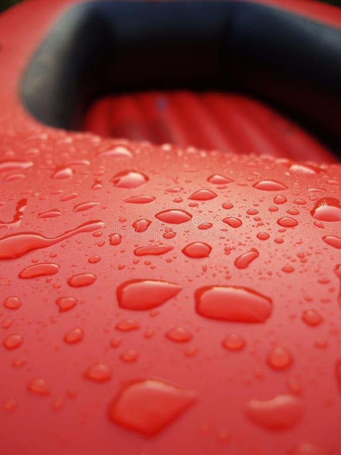 Rode en zwarte reddingsboot royalty-vrije stock foto