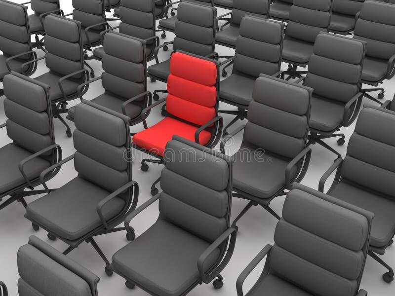 Rode en zwarte stoelen stock illustratie
