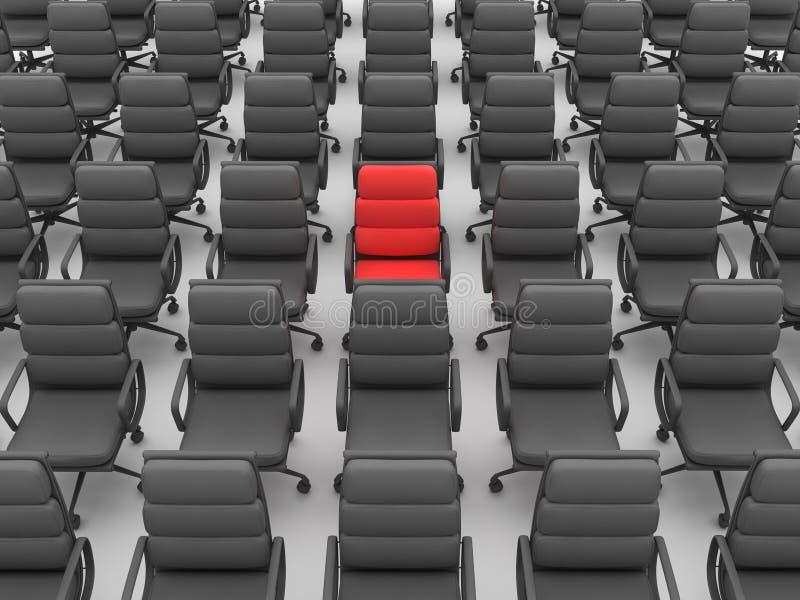 Rode en zwarte stoelen royalty-vrije illustratie