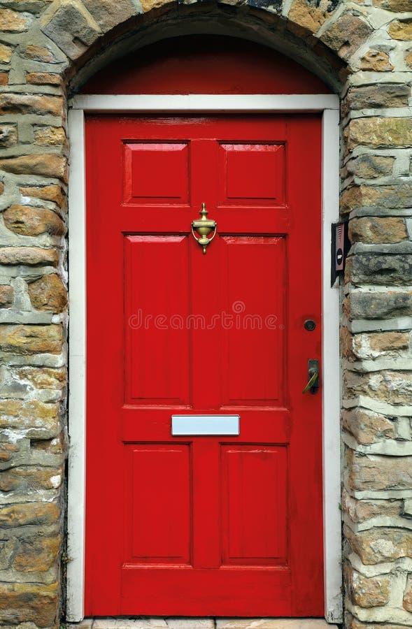 Rode Engelse deur stock afbeeldingen