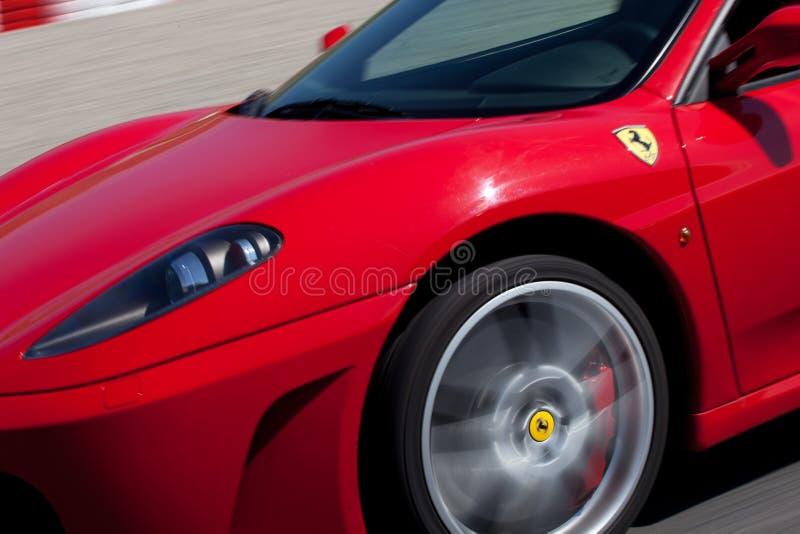 Rode Ferrari F430 F1 royalty-vrije stock foto
