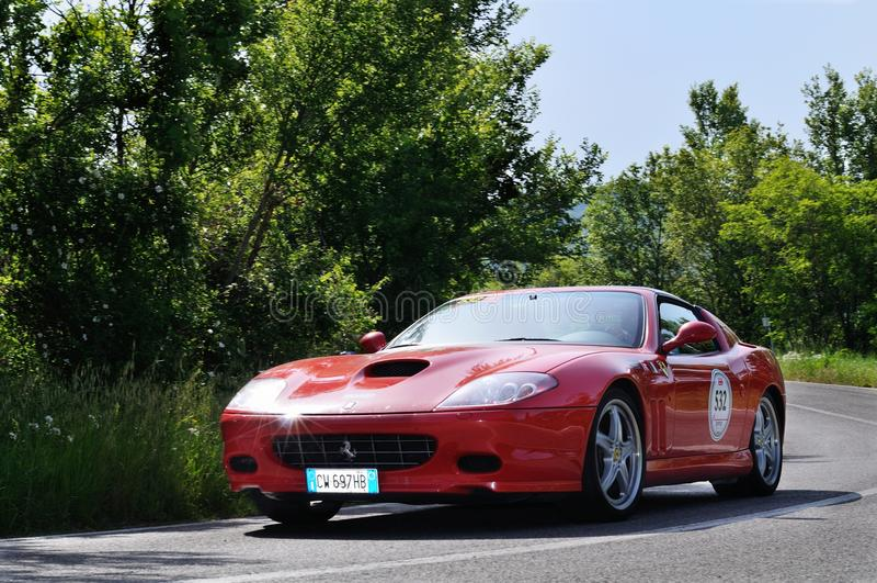 Rode Ferrari Superamerica royalty-vrije stock foto's