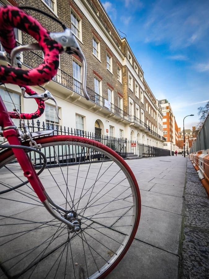 Rode fiets stock foto