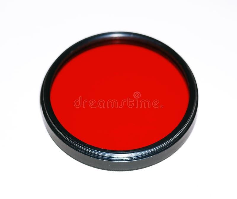 Rode filter voor camera stock fotografie