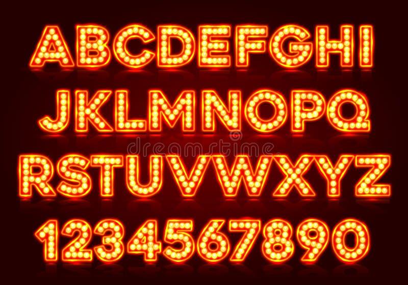Rode fluorescente neondoopvont op donkere achtergrond vector illustratie
