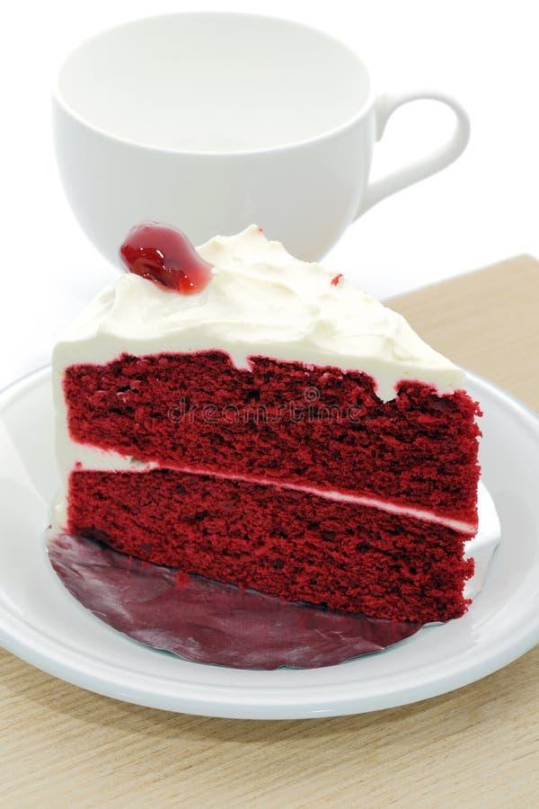 Rode fluweelcake royalty-vrije stock foto's