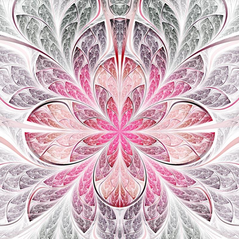 Rode Fractal Bloem vector illustratie