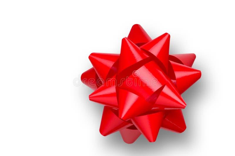 Rode geïsoleerde boog stock afbeeldingen